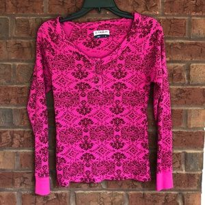 Pink thermal longsleeve T-shirt